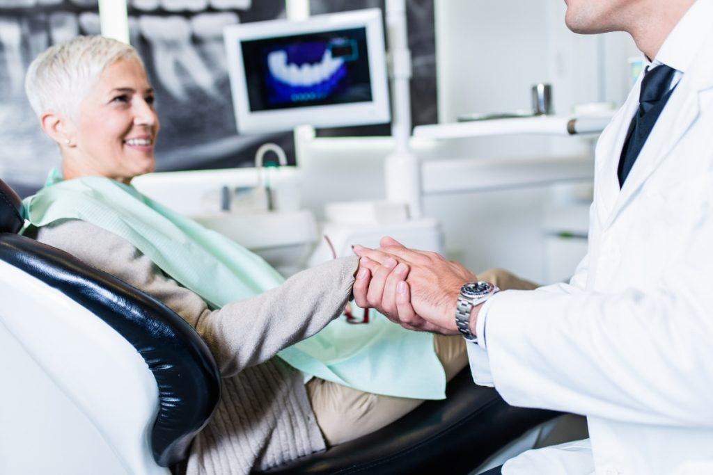 senior patient happy